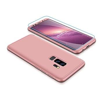 Funda Samsung Galaxy S8+/S8 Plus 360°Caja Caso + Vidrio Templado Laixin 3 in 1 Carcasa Todo Incluido Anti-Scratch Protectora de teléfono Case Cover ...