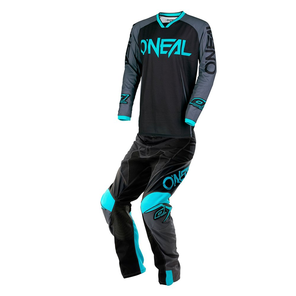 O'Neal - Mayhem Lite Blocker Black & Teal Youth Jersey/ Pant Combo - Size Y-XLARGE/ 28W