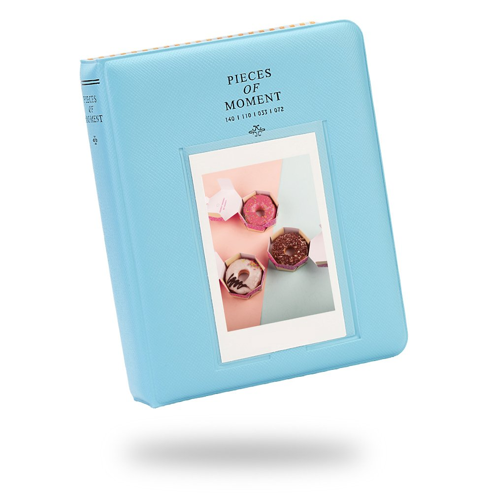 [Fujifilm Instax Mini Photo Album] - Lalonovo Photo Album for Fujifilm Instax Mini 8 7s 25 50s 90 Film/Polaroid Z2300 PIC-300 Film/Name Card (64 pockets, Blue)