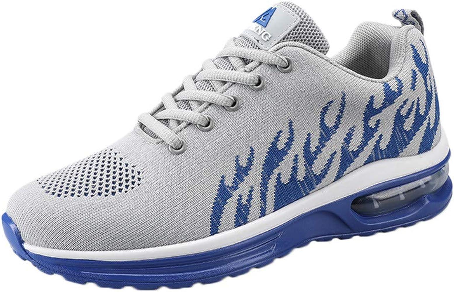 Zapatos Deportivos de Hombre Transpirables con Almohadillas. Routinfly Zapatillas de Gimnasia Deportivas Zapatillas Running Baloncesto al Aire Libre Zapatos de Senderismo 39-48 Azul Size: 41 EU: Amazon.es: Zapatos y complementos