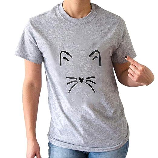 f3e67b074d3 Amazon.com  Fashion New Cat Print T Shirt
