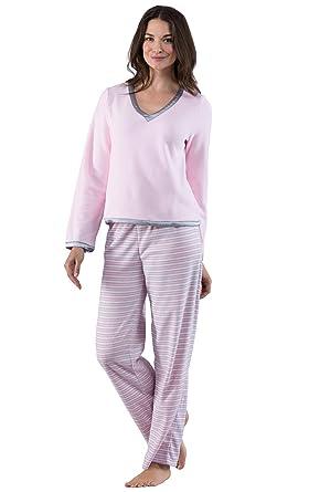 e042d54f1a PajamaGram Fleece Pajamas Women Soft - Winter Pajamas for Women at ...