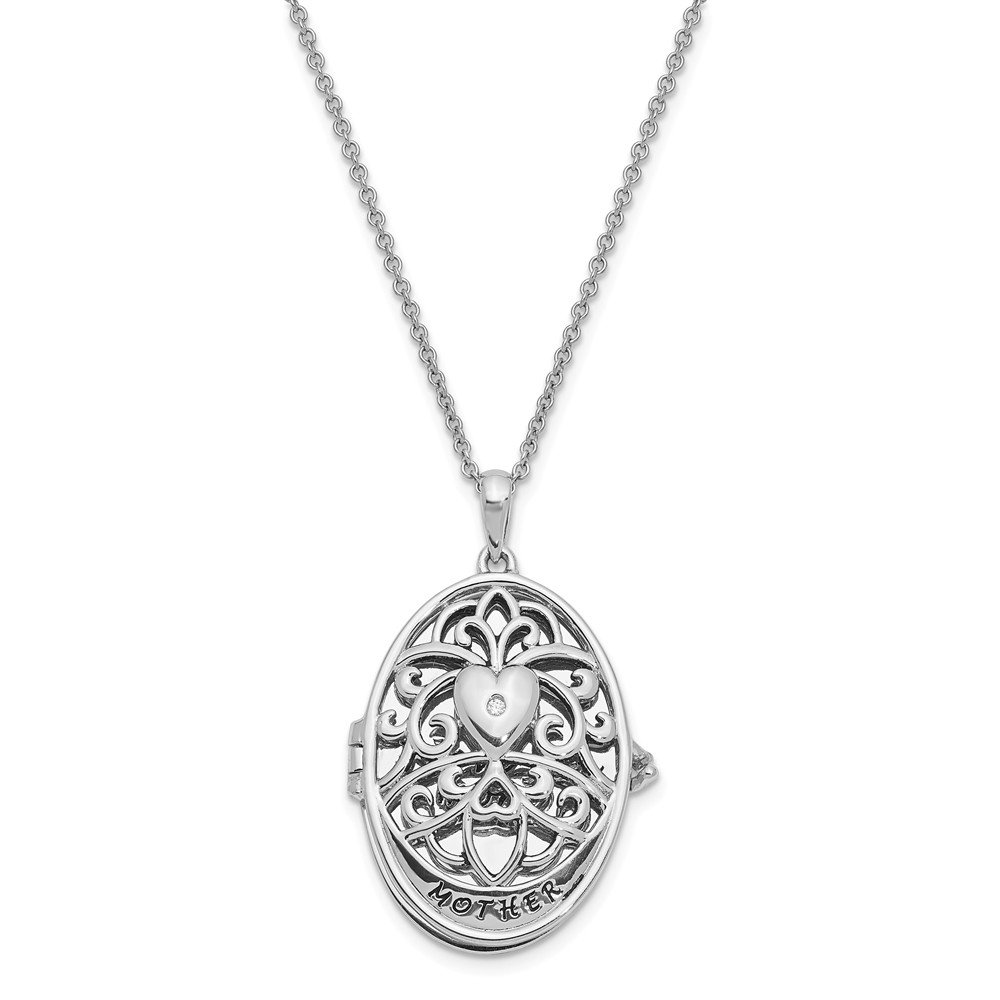 Top 10 Jewelry Gift Sterling Silver CZ Antiqued I Love You More 18in. Necklace