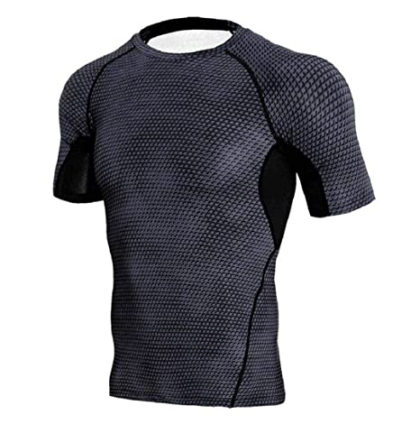 ◕‿◕ Toponly Man Workout Leggings Fitness Sports Running Yoga Athletic Shirt Top