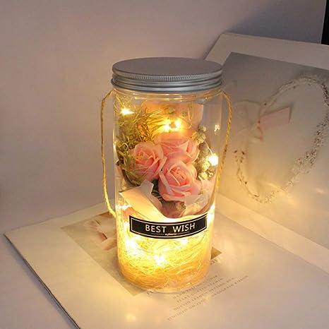 OSALADI Romántico Luces nocturnas de rosa Dura para siempre ...