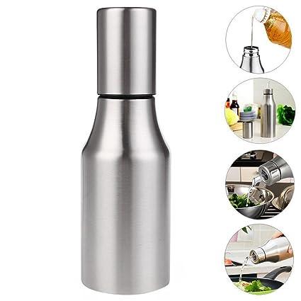 Dispensador de aceite jarra de acero inoxidable anti fuga bouteillele dispensador de aceite de vinagre de