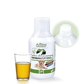 Aceite para Perros 250ml de AniForte - Mezcla de Aceites de Cáñamo, Comino negro,
