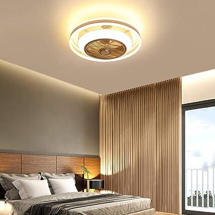 36W creativo Fan invisibile lampada principale del soffitto telecomando dimmerabile ultra-silenzioso Pu/ò Timing Fan Chandelier Modern Living Room Camera JDMYL Ventilatore a soffitto con lampada