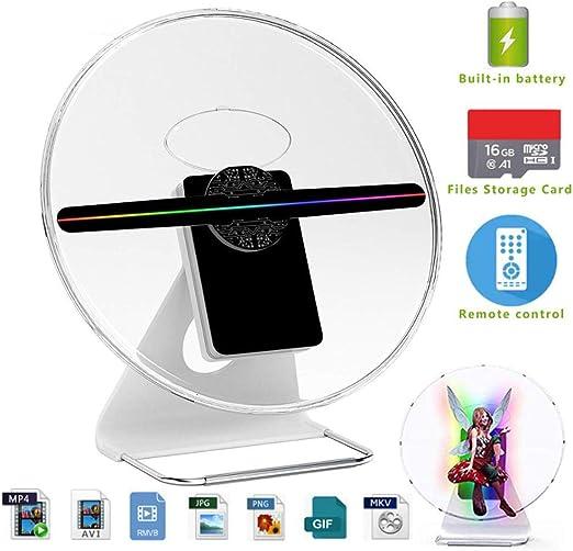SDlamp Visualización 3D Publicidad Holograma Ventilador Luz del ...