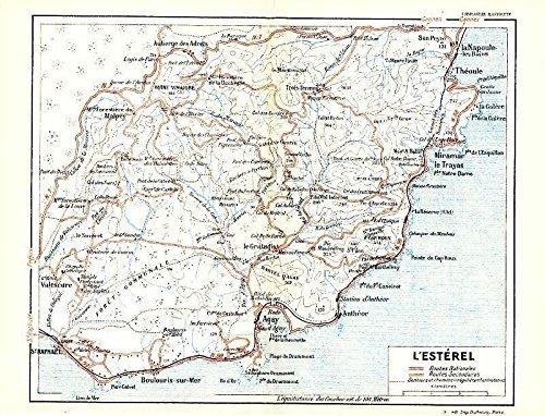 Amazon.com: L\'Esterel France 1943 World War II lithograph regional ...