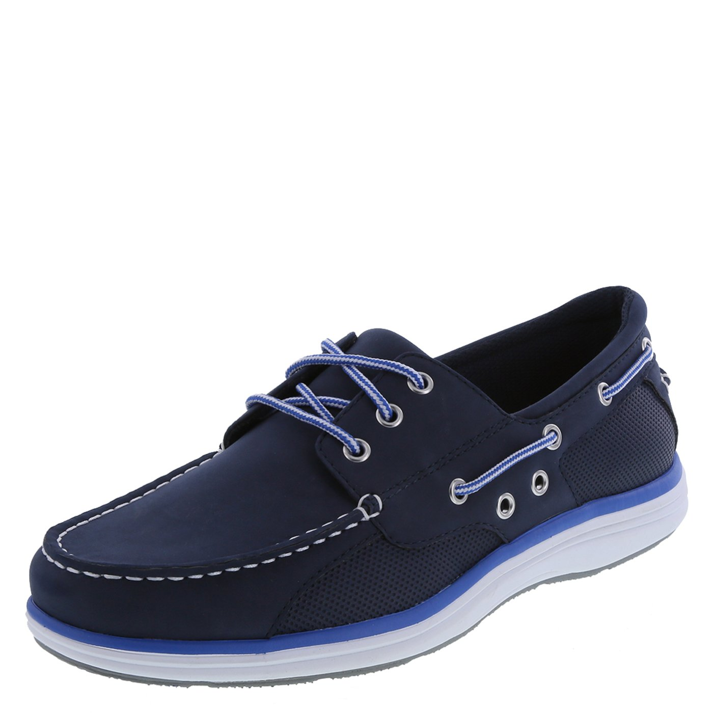 Men's Lightweight Mesh Boat Shoes-Light Navy,9