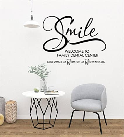 Custom Dentist Office Wall Decal,Dental Office Decor,Wall Decals For  Dentist Office,