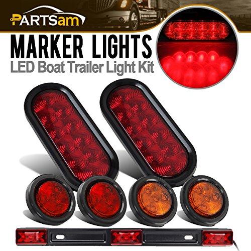 Partsam Submersible Truck Trailer LED Light Kit,Pairs 6