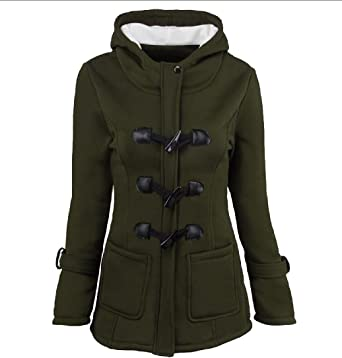 XiaoShop Mens Mid Length Solid Full-Zip Warm Pockets Hooded Parka Jacket