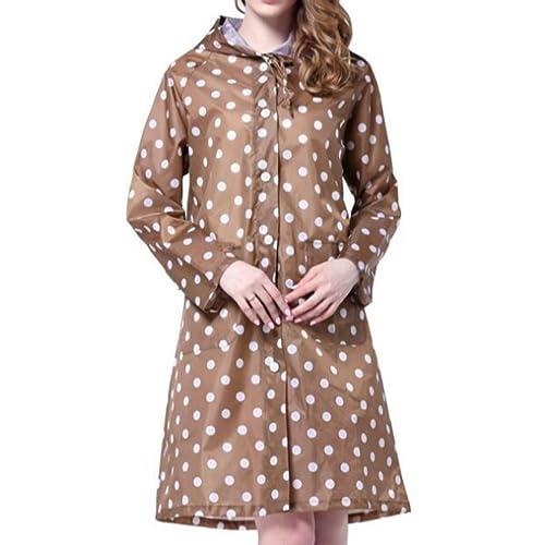 ChangNing – Abrigo impermeable – chaqueta – para mujer marrón marrón claro Talla única