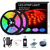 YOMYM LED Strip, LED Strip Kit, Light Bar Controlled by Smartphone, Wireless, WiFi, for Android and iOS, Alexa, Google…