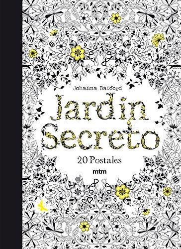 Jardín secreto: 20 postales para colorear y relajarse