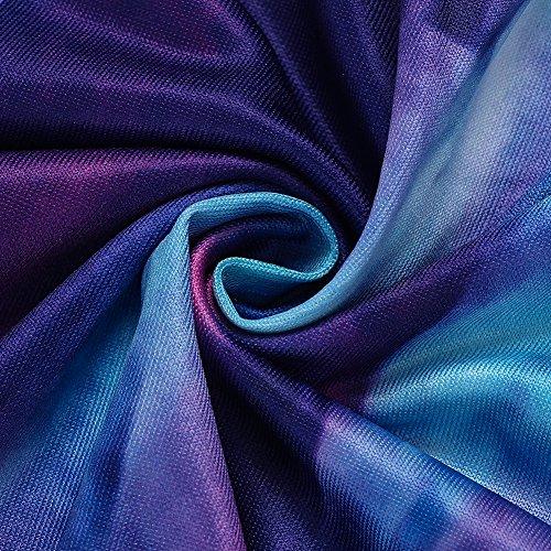 Bocaoying Sexy Floral Robe Imprimée Été Boho Mini Robe De Femme Violet