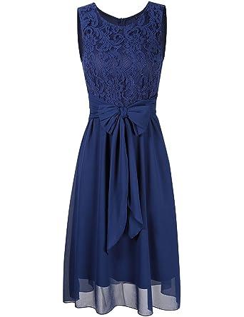 ef5f5791fbba8 ドレス 結婚式 ワンピース パーティー フォーマル レース ノースリーブ 通勤 お呼ばれ お出かけ ウエディング 二次会 忘年会 レディース (