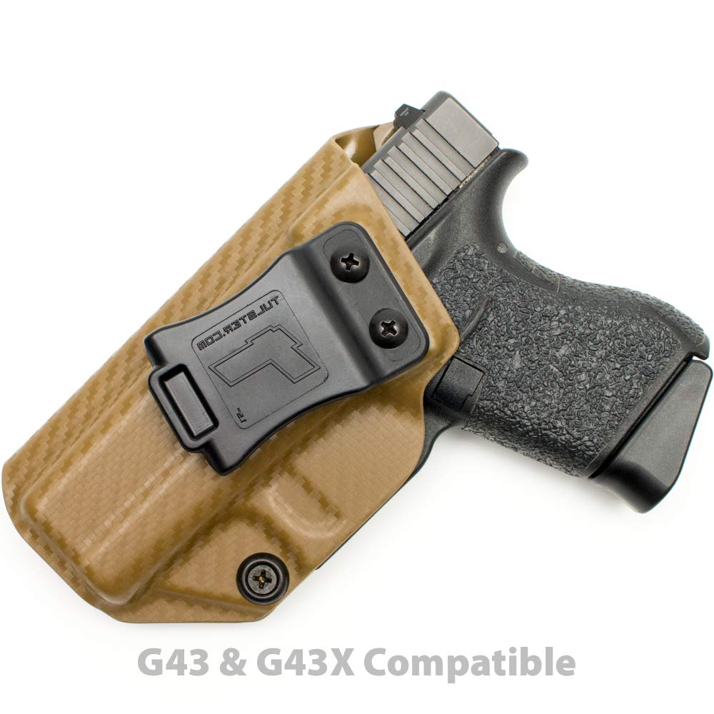 Tulster Glock 43/43X Holster IWB Profile Holster (Coyote Brown Carbon Fiber - Left Hand)