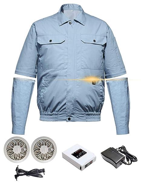 扇風機 付き 作業 服