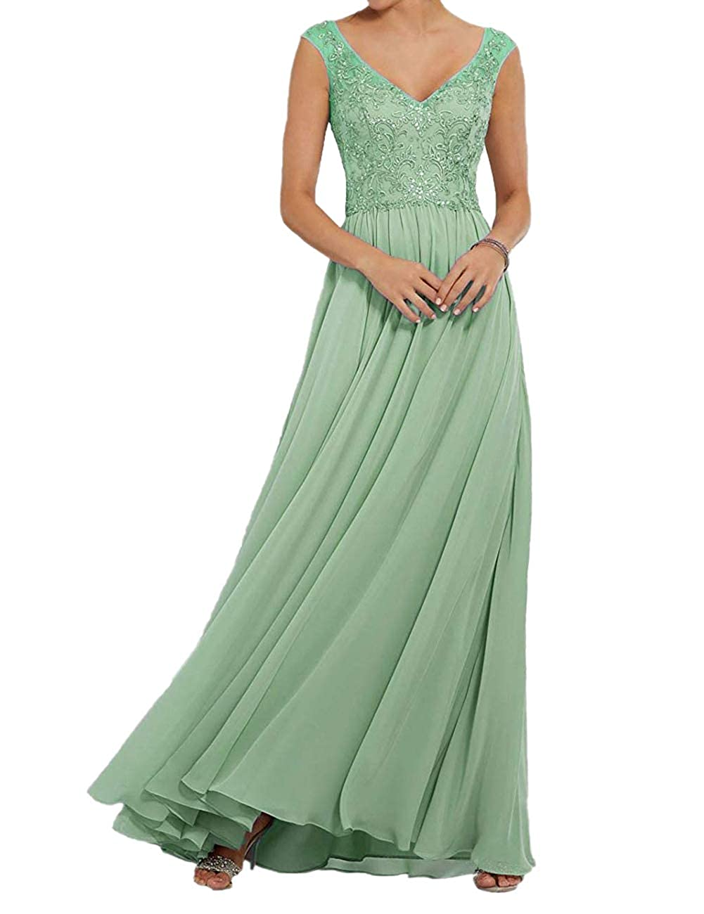 Glass Green ASBridal Prom Dresses Long Sequin Quinceanera Dres Backless Formal Evening Gown with Sash