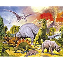 Posters: Dinosaurs Poster Art Print - Collage, Dino World (20 x 16 inches)