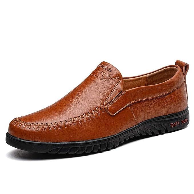 FHTD Zapatos Informales Elegantes Mocasines De Los Hombres Zapatos Antideslizantes Zapatos De Conducción: Amazon.es: Ropa y accesorios