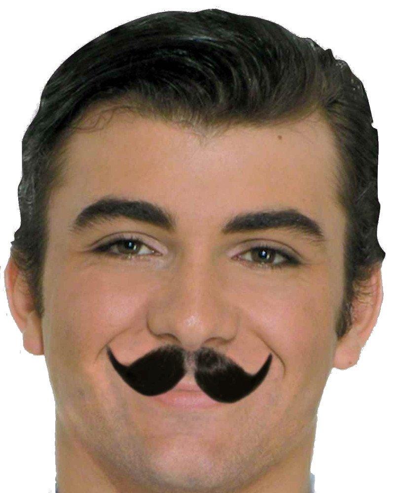 Forum Novelties 23351 Winged English Moustache, Black