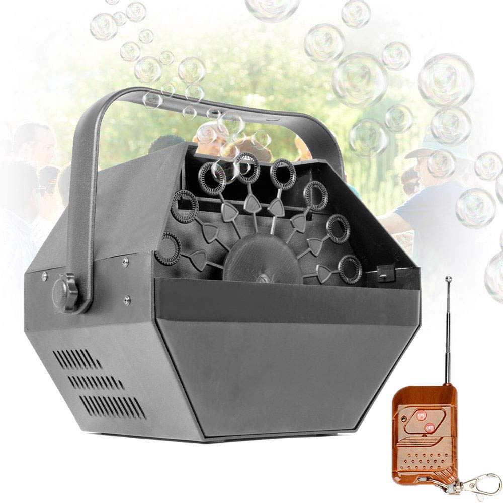 JUN GUANG Remote Control Powerful Wedding Bubble Machine Bubble Blower Machine Colorful Blowing Bubble Machine for Indoor/Outdoor Use