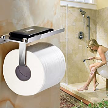 Toilet Paper Holder,Bathroom Tissue Roll Hanger,Wall Mount Paper Towel  Hooks/Dispenser