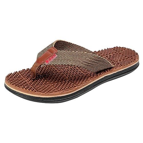 2052089064f80e EU39-EU46 ODRD Schuhe Herren Herrenmode Casual Flache Flip Flops Hausschuhe  Strandschuhe Outdoor Massage Schuhe