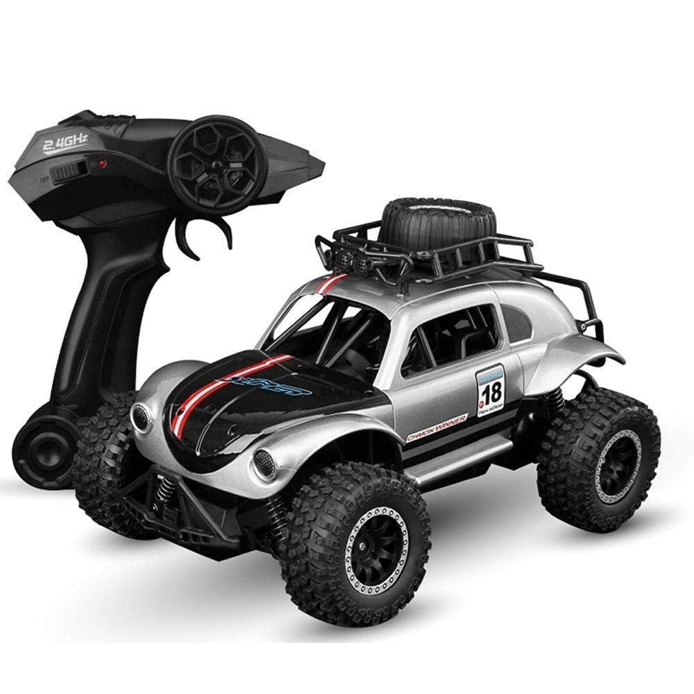 Pinjeer 2.4G Remote Control Cars PVC Non-Slip Light All Terrain RC Car Chargeable Electric Wireless Toy Car Boy Girl Creative Beetle High Speed 25KM/H High Speed Gift for Kids 3+ for Kids 3+ by Pinjeer