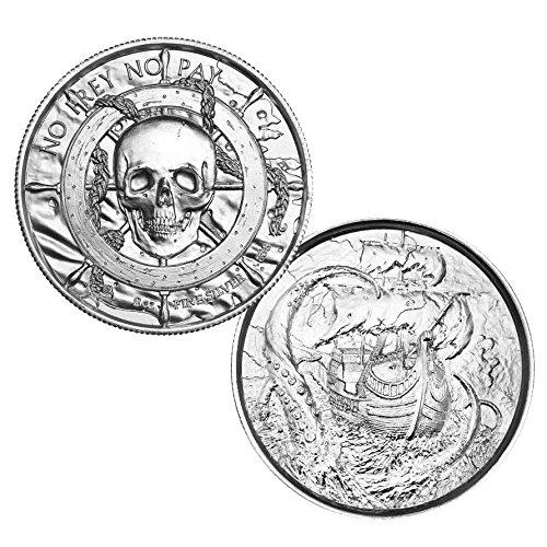 2 oz Elemetal PRIVATEER The Kraken Ultra High Relief Silver Round (2 Oz Privateer Ultra High Relief Silver Round)