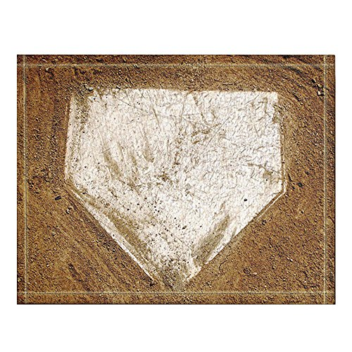 NYMB Baseball on the Wooden Bath Rug, Non-Slip Floor Entryways Outdoor Indoor Front Door Mat,60x40cm Bath Mat Bathroom Rugs