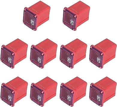 Amazon.com: 50 Amp Jcase Fuse Assortment Kit Mini Automotive Low Profile Box  Shaped Fuses (10 Pack): Automotive