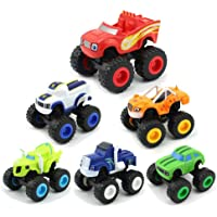 KOBWA Blaze and the Monster Machines Vehicle, 6 Pieces Monster Machines Toys Scooters Car Boys and Girls Crusher Truck Vehicles Toys Gifts for Kids