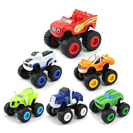13a2450ca122 KOBWA Blaze and the Monster Machines Vehicle, 6 Pieces Monster Machines  Toys Scooters Car Boys and Girls Crusher Truck Vehicles Toys Gifts for  Kids: ...