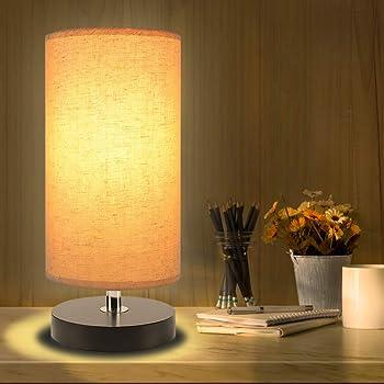 Aooshine Minimalist Solid Wood Bedside Table Lamp