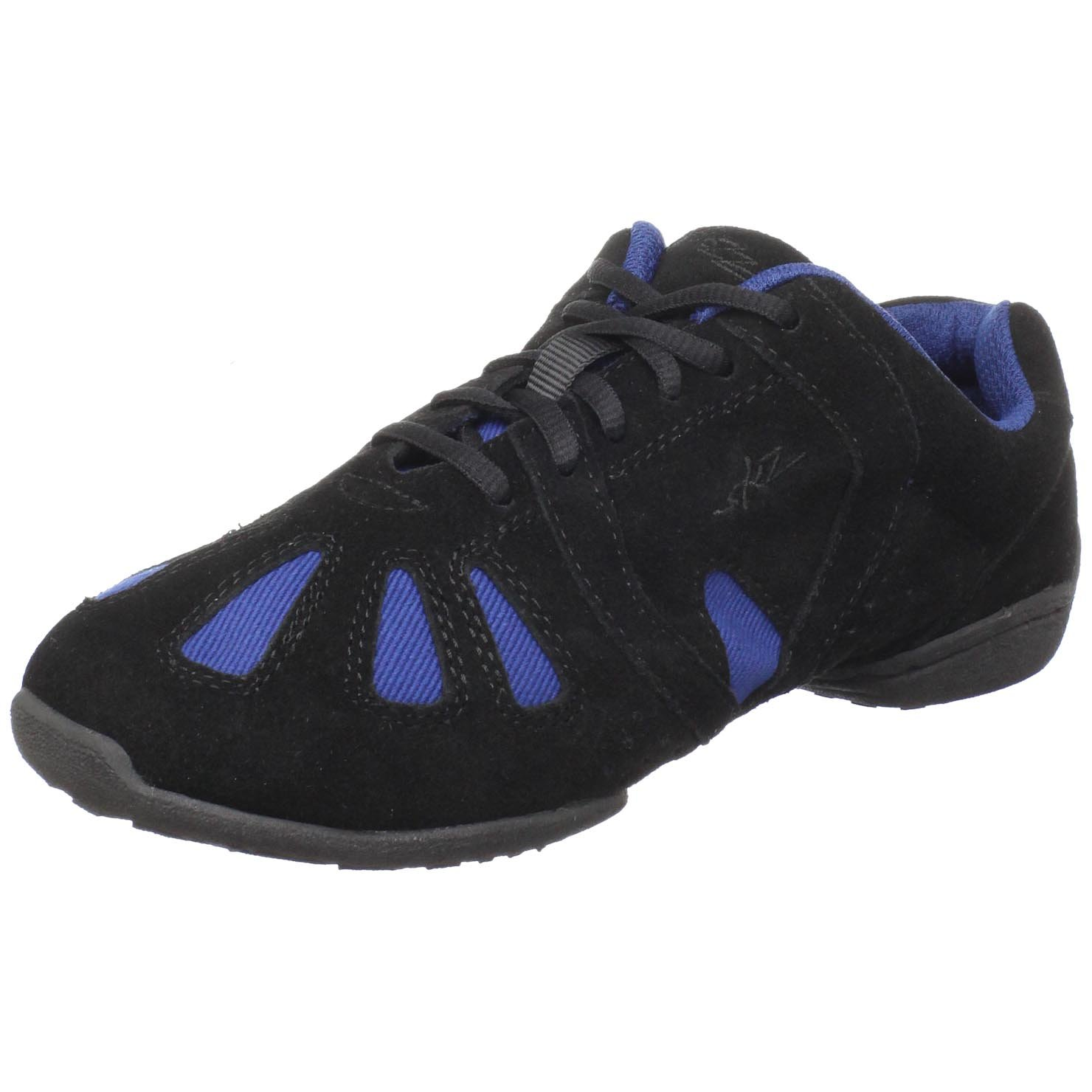 Sansha Dynamo Dance Sneaker,Black/Blue,7 (6 M US Women's) by Sansha
