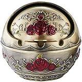 Cendrier à la maison à la mode Cendrier Cendrier à formes rondes de style européen, bronze