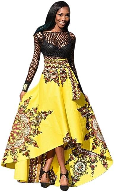Vestido Mujer JiaMeng Nueva Mujer Africana Tobillo-Longitud ...