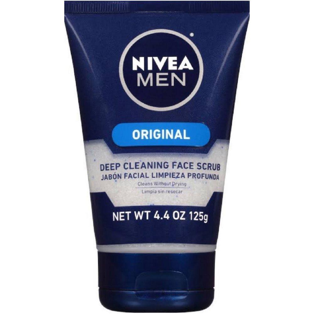 NIVEA FOR MEN Original, Deep Cleaning Face Scrub 4.4 oz (Pack of 6)