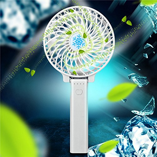 s,Hot Mini Portable USB Rechargeable High Power 3-Speed Desktop Fan Durable ()