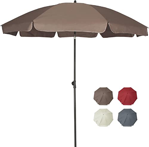 AMMSUN 6.5 ft Patio Umbrella Market Table Umbrella Tilt Steel Pole UPF50 Protection