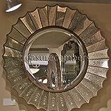 Etched Venetian Sunburst / Starburst Wall Mirror Extra Large Gold Antique New