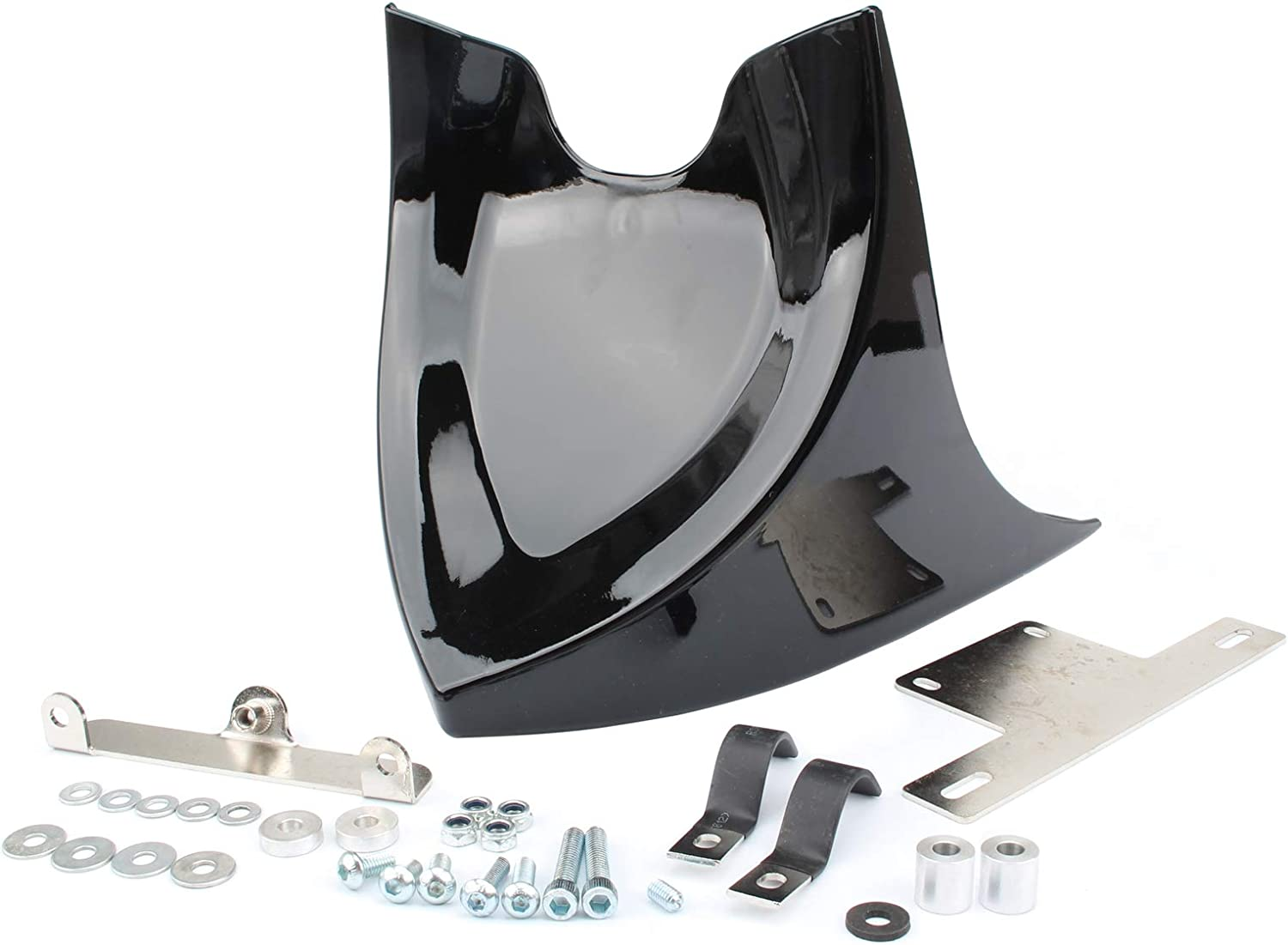 Fancytimes Front Chin Spoiler Air Dam Fairing Cover Mounting Bracket for Harley Sportster 883 XL1200 2004-2014 Models Except 2015-Later Models with ABS White