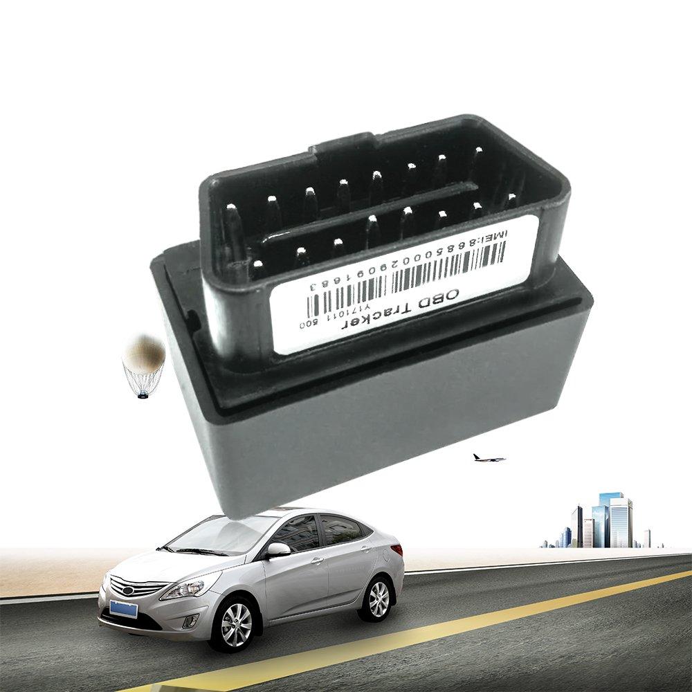Wanway Small Plug Play Antifurto OBD GPS Tracker Gestione del veicolo con allarme di velocità eccessiva (45.2(L)*25.1(W)*32(H) mm) Shanghai Goome