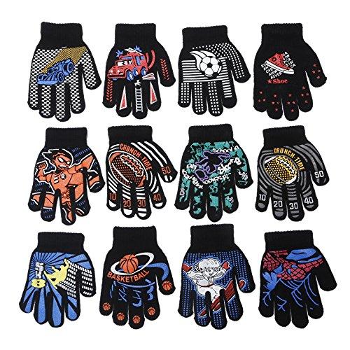 Gloves Magic Childrens (Gilbin Magic-stretch Gripper Glove, Kids Size, Colorful Set, 12 Pair Sports)