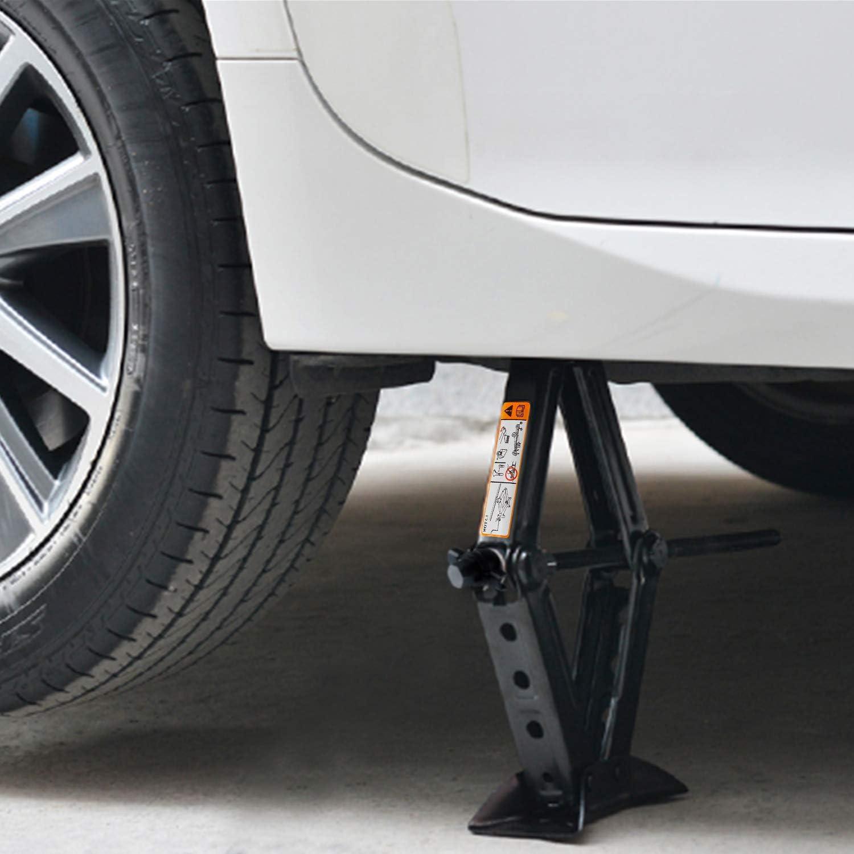 everbest4u Scissor Jack 2T Car Scissor Jack with Hand Crank Portable RV Stabilizers for Sedan and Coupe